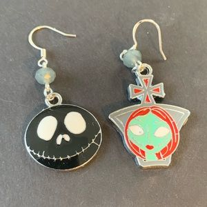 Jack & Sally Nightmare Before Christmas Earrings